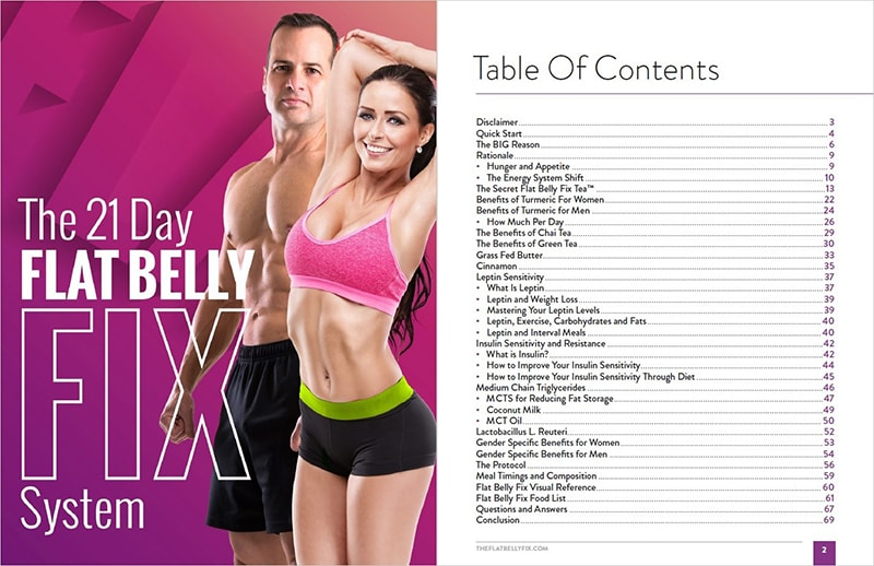 Flat Belly Fix Table of Content