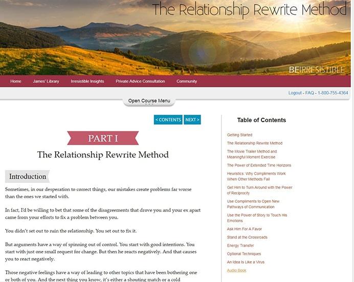 Relationship Rewrite Method Sample Content